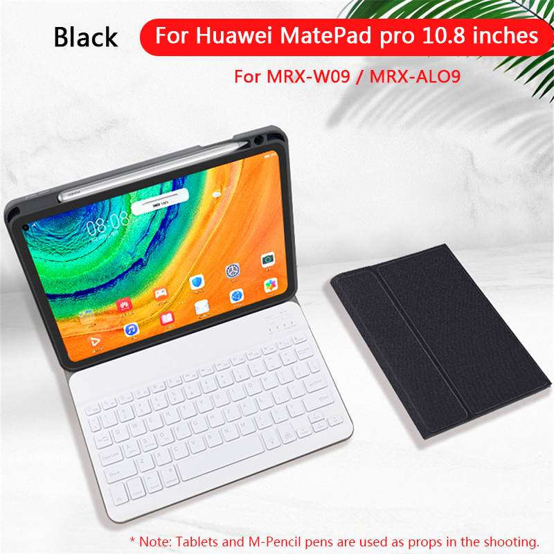 Keyboard For Huawei MatePad Pro 10.8 Inch 7 Colors Backlit Bluetooth Keyboard PU Leather Tablet Protective Case with Pen Slot|Keyboards| |  - title=