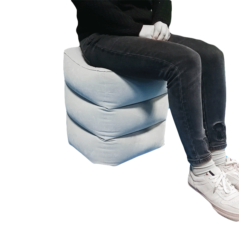 Inflatable Height Adjustable Ottoman Footrest Stool Kids Flight Footrest Pillow Inflatable Travel Pillow Foot Rest Pad