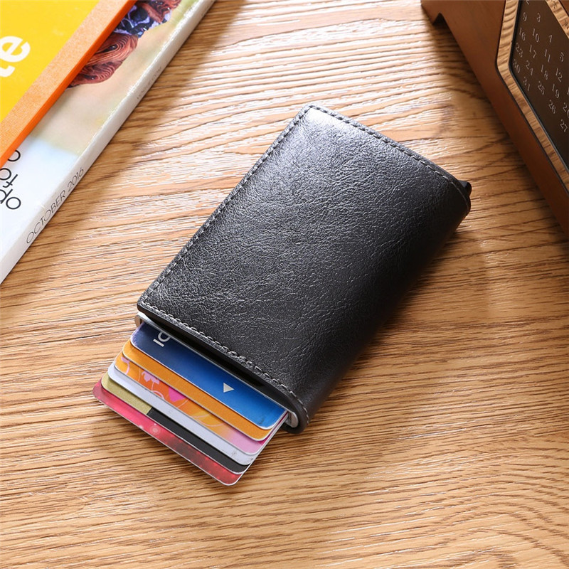 SMART Wallet Men Money Bag,Card Holder Rfid TOP Quality Mini Purse Male