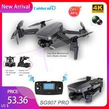 SG907 Pro dron GPS z 5G WIFI 4K HD podwójny aparat profesjonalnej fotografii lotniczej 2-osi Gimbal RC składany Quadcopter zabawki prezent