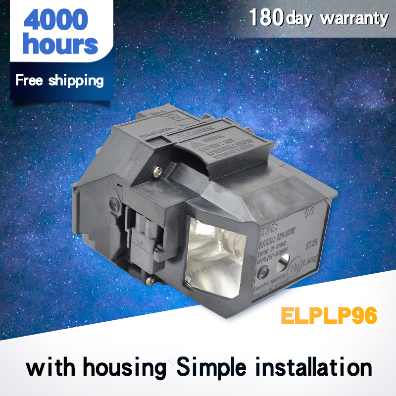 Replacement Bare Lamp Bulb For EPSO N For ELPLP96 / V13H010L96 EB-W39 EB-W42 EB-X41 EB-W05 Projectors With Housing