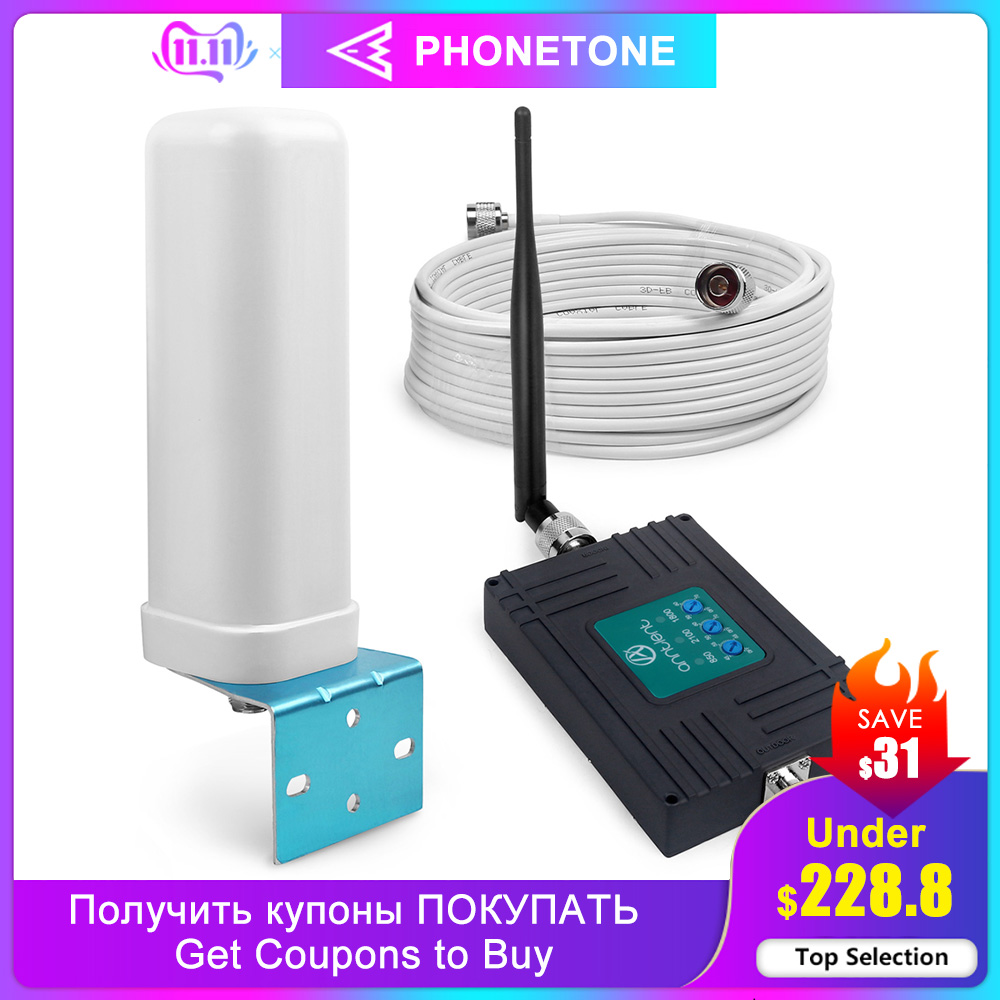 Mobile Signal Booster 850/1800/2100 MHz 2G 3G 4G Repeater GSM Cellular Signal Booster UMTS Mobile 70dB LTE Amplifier Band 5/3/1