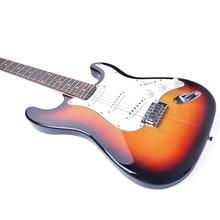цены 39 Inch Electric Guitar Solid Basewood Electric Bass Concert Left Hand Guitar Beginner Guitar Gift AGT212