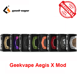 GeekVape Aegis X коробка мод новый как 2,0 набор микросхем питание от двух 18650 батарей для 510 поток атомайзер vape vs ageis solo