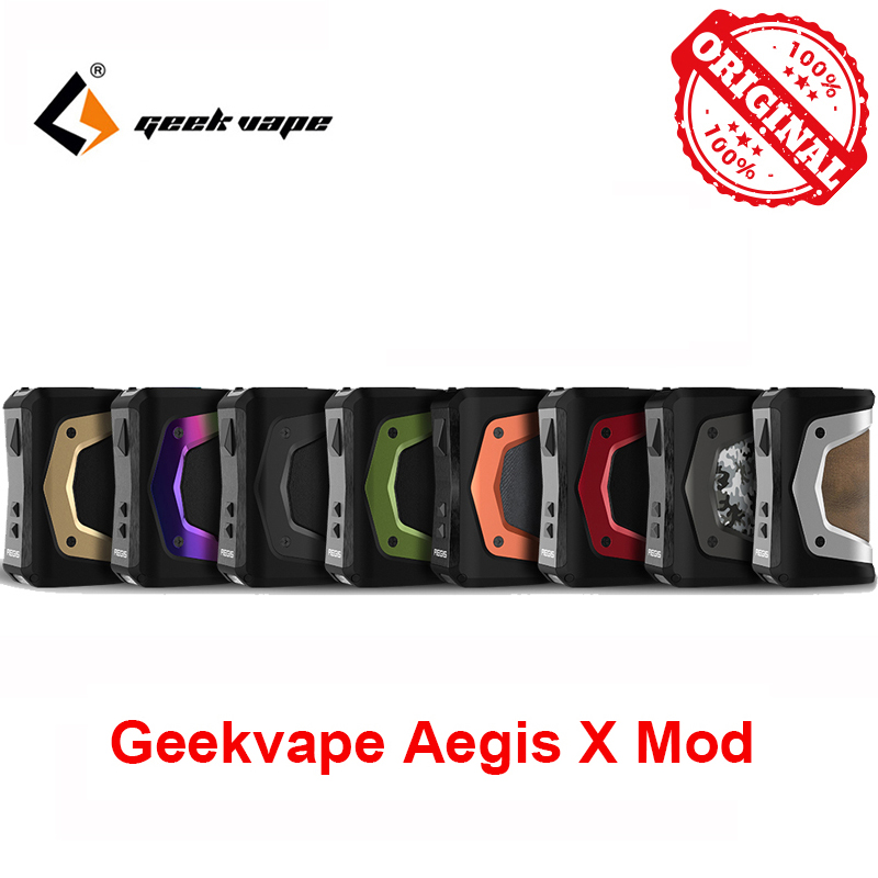 GeekVape Aegis X Box Mod New AS 2.0 Chipset Power By Dual 18650 Batteries For 510 Thread Atomizer Vape Vs Ageis Solo