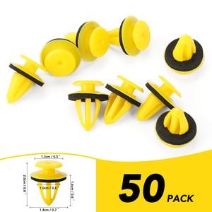 50 unidades/juego de remaches de plástico de 10mm para coche, Clip de sujeción, retenedor de guardabarros para parachoques Interior de coche, pasadores
