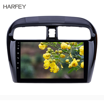 Harfey Car Radio Android 10.0 for 2012-2016 Mitsubishi Mirage 9 GPS Navi with HD Touchscreen Bluetooth USB WIFI FM SWC DVR OBD2 image