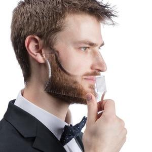 Image 1 - חדש כניסות גברים זקן עיצוב סטיילינג מסרק תבנית שקוף גברים של זקנים קומבס יופי כלי שיער זקן Trim תבניות