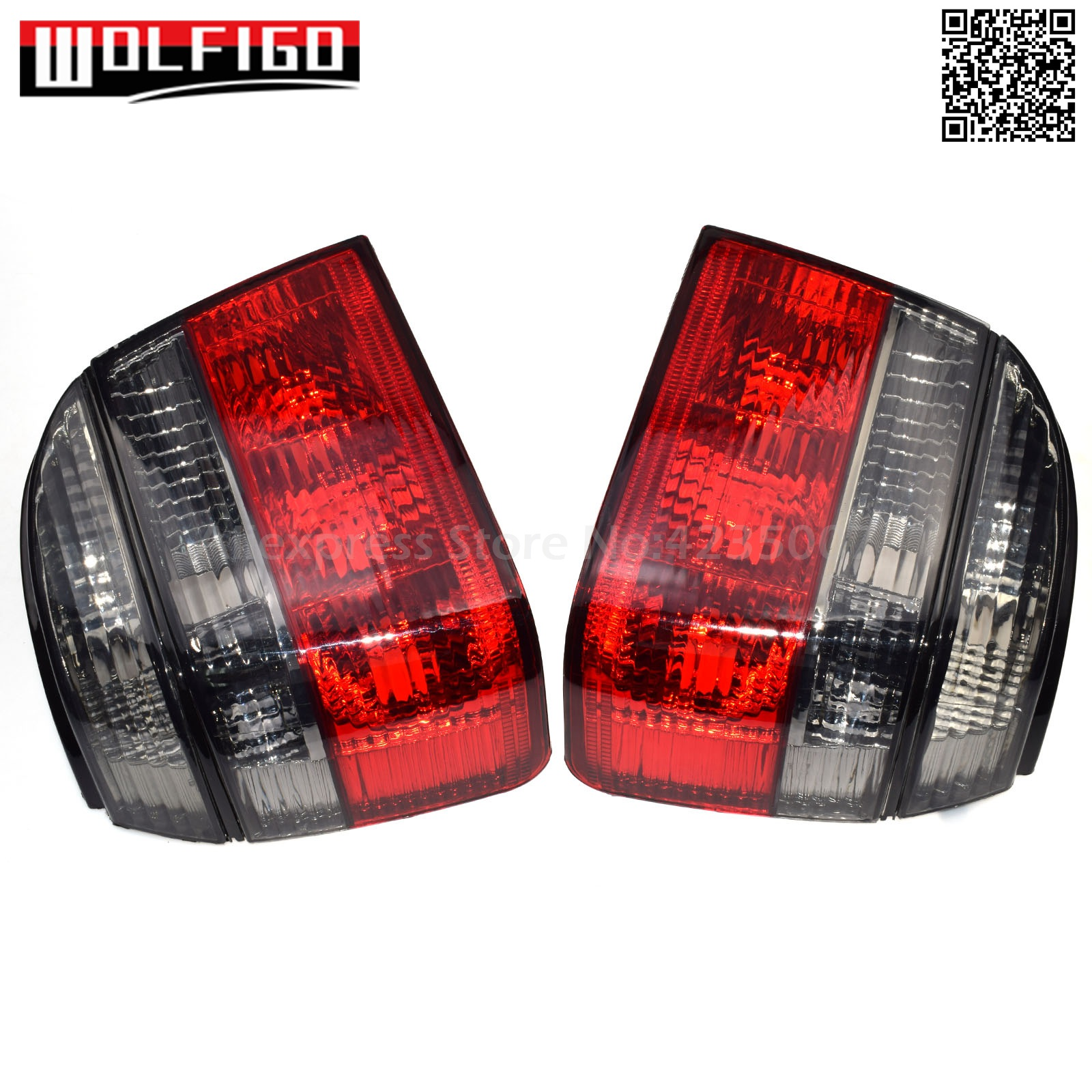 WOLFIGO New Left Right Car Tail Lights Red Smoke For VW Golf Mk3 1993-1999 1EM945112,1EM945111