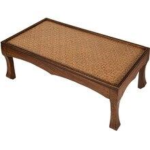 Японский ретро интерьер твердой древесины мебель Азиатский стиль кофе чай гостиная низкий стол прямоугольный татами маленький стол