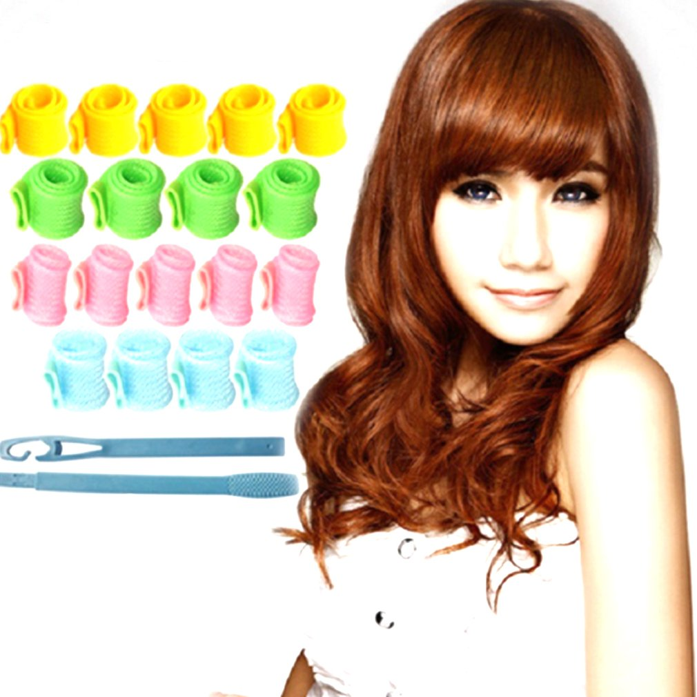 Recyclable Magic Hair Curler Rollers Pear Head Hooks Kit For DIY Tool Wet Or Dry Hair Wave Curler Beauty Hair Style Design