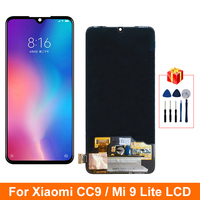 6.39'' Super AMOLED For Xiaomi Mi CC9 LCD MI 9 Lite Display Touch Screen Digitizer Replacements Parts For MI CC9 Display