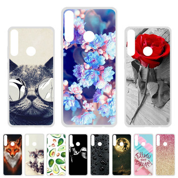 Soft TPU Case For Huawei Y6p Cases Silicon Cute Cat Animal Painted Phone Coque For Huawei Y6p 6.3 inch Cover Fundas Bumper Skin bolomboy painted case for alcatel 1c case silicone soft tpu cases for alcatel 1c 5009d cover wildflowers cute animal bags