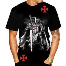 Camiseta con estampado 3d de Caballeros Templarios, camisetas casuales de moda para hombres y mujeres, ropa de calle de Hip Hop
