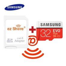 Adaptador inalámbrico ez share wifi, tarjeta Micro SD Samsung EVO plus class10, tarjeta TF inalámbrica de 32gb, 64gb y 128GB