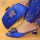 Italian Shoes With Matching Bags Set Italy African Women's Party Shoes and Bag Sets green Color Women shoes - 2