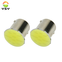 цена на YSY 500pcs 1156 BA15S Led COB Light P21W 12V 12 SMD LED Auto Car Brake Tail Turn Signal Light Parking Backup Bulb Lamp White