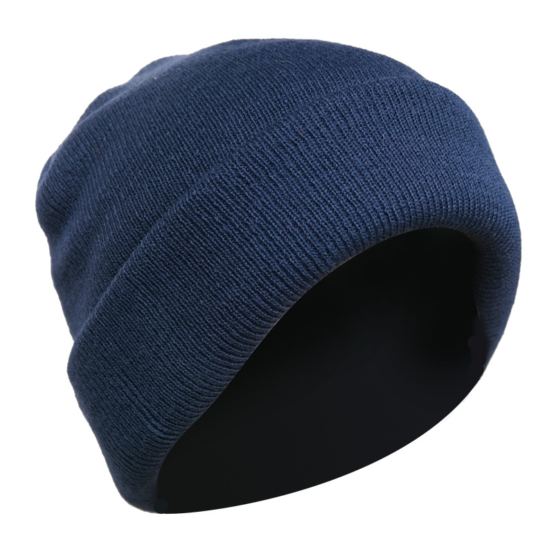 Four Layers Thick Autumn And Winter Hats For Men Knit Hat Beanie To Deepen The Wind And Cold Protection Ear Warmer Head Caps