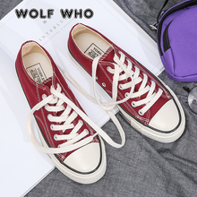 WOLF WHO Men Canvas Shoes 2020 Summer Trend Men's Casual Shoes