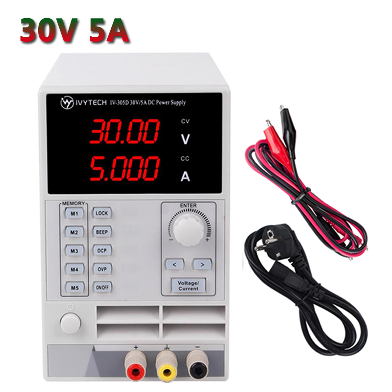 IVYTECH IV-305D DC Lab Bench Switching <font><b>Power</b></font> <font><b>Supply</b></font> <font><b>30V</b></font> <font><b>5A</b></font> Adjustable Variable Regulated <font><b>Power</b></font> Modul Laboratory <font><b>Power</b></font> Source image