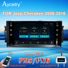 PX6 Autoradio 1 Din Android 10 Multimedia Speler Autoradio Voor Chrysler/300C/Jeep/Kompas/Dodge/Grote/Cherokee Navigatie Gps 4G