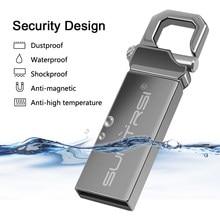 Suntrsi pendrive 64 32 16g 8g usb flash drive 128g pen drive, à prova d'água, u disk 2.0 memória usb vara presente