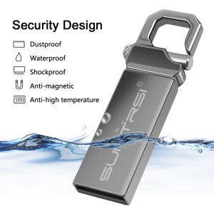Suntrsi pendrive 64 32 16g 8G USB Flash Drive 128G Pen drive флешка waterproof u disk 2.0 memoria usb stick gift