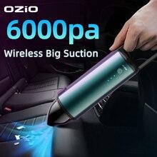 Auto Staubsauger Wireless Mini Tragbare Hand Auto Staubsauger 6000Pa Auto Interior Interior Tastatur Staub пылесос