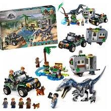 Jurassic park world baryonyx face-fora caça ao tesouro bloco de construção lepining tijolos jurássicos brinquedos para crianças presente de natal