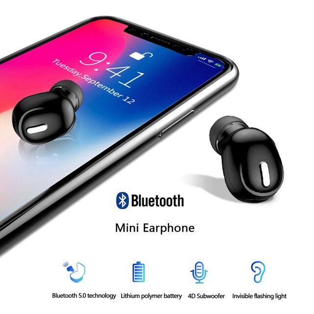 Mini Auricolare Senza Fili Bluetooth 5.0 in Ear Auricolari Vivavoce Auricolare Auricolare con Il Mic per il iPhone Xiaomi Smart Phone PC