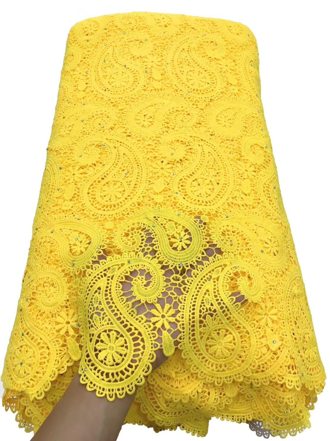 Latest Hot-selling Guipure Lace Excellent African Swiss Cord Lace fabric.