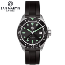 San Martin Men Mechanical Automatic Watches Sapphire Glass SEIKONH35 Movement Stainless Steel Diving Wrist watch