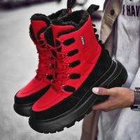 Men Snow Boots Winter Warm Ankle Boots Shoes Man High Quality Booties Male Sneakers Shoes Zapatillas Hombre Botas Plus Size 46