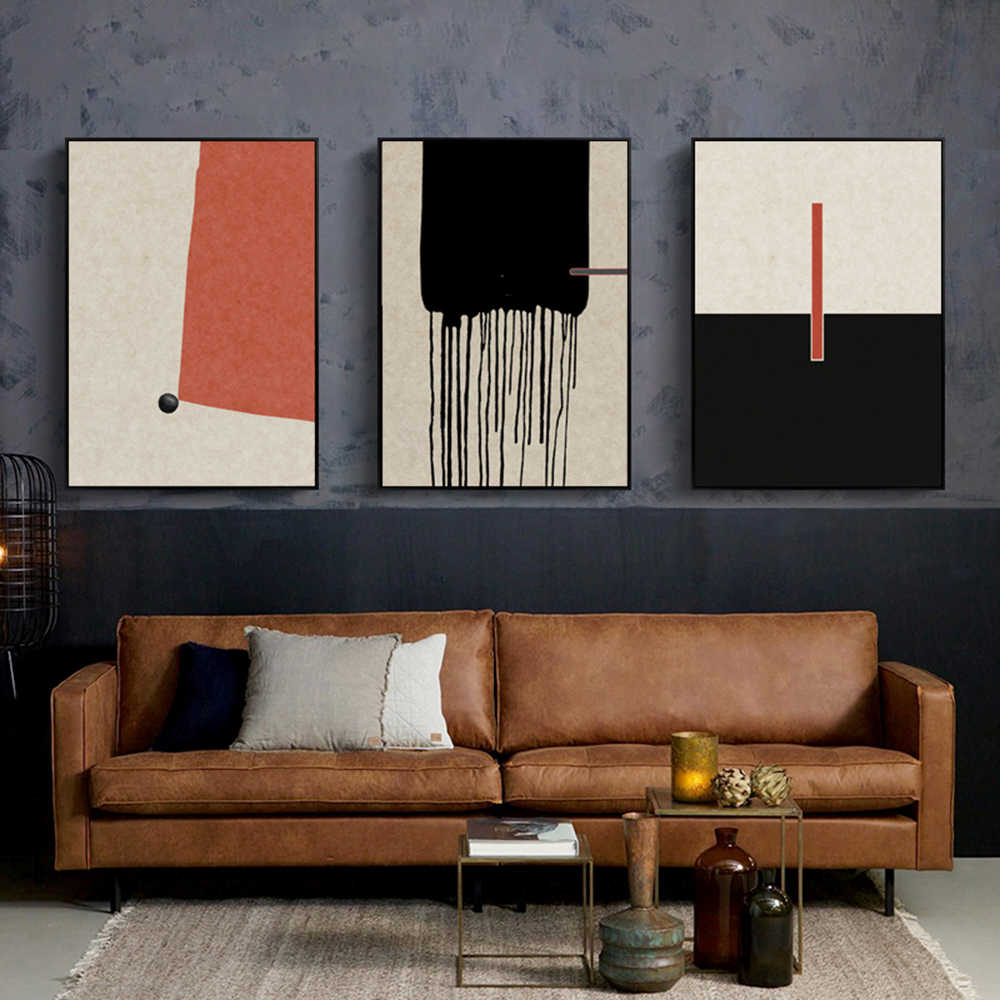 Personalized Abstract Sketch Modern Hd Printed Scenery Poster Wall Painting Living Room Paintings Wall Decor