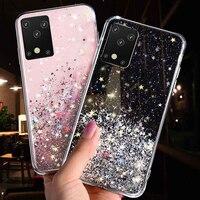 Luxus Glitter Star Fall Für Samsung Galaxy S9 S10 S20 Plus S21 Ultra A02 A32 A42 A52 A72 Hinweis 9 10 20 silikon Bling Abdeckung Fall