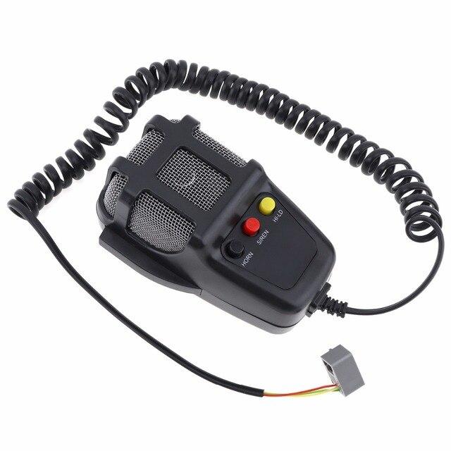 100W 12V 3 / 5 / 7 dźwięk samochodu elektroniczny ostrzeżenie syrena Alarm motocyklowy strażacy pogotowia głośnik z mikrofonem do samochodu