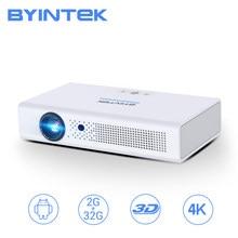 Byintek r19 2k 3d 300 polegada inteligente android wifi vídeo led portátil mini dlp proyectorbeamer completo hd 1080p projetor para o cinema 4k