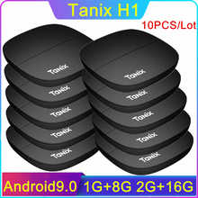 цена на 10PCS/LOT Tanix H1 Android TV Box LPDDR4 2GB 16GB ROM 1GB 8GB Hi3798M V110 Quad Core HDMI2.0 4K Home Media Player Smart TV Boxes