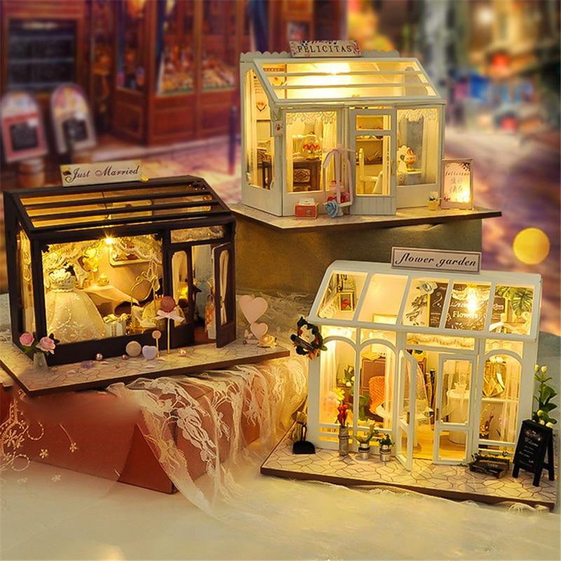 de madeira casa em miniatura edifícios modelos