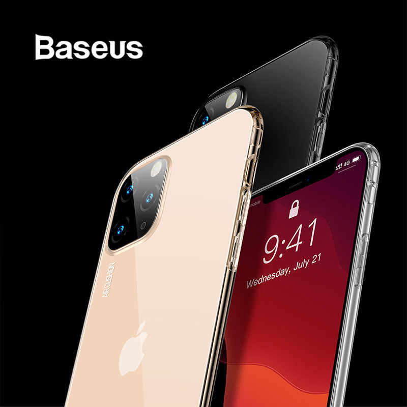 Baseus Transparant Zachte Siliconen Case Voor iPhone 11 Case Cover op iPhone 11 Pro Max Shockproof Case Voor iPhone 11 pro Case