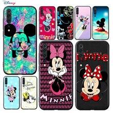Disney Cartoon Animatie Mooie Mickey Mouse Voor Xiaomi Mi 11 11i 10T Note 10 9T 9 Se 8 lite Pro Ultra 5G Zachte Zwarte Telefoon Case