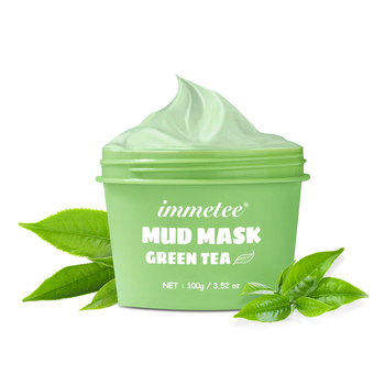Facial Mask 100g Green Tea Ice Muscle Mud Mask Deep Cleansing Remove Blackheads And Shrink Pores Mask Facial Skin Care Products 1