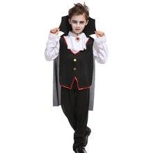 Umorden Carnival Party Halloween Kids Children Vampire Costume Fantasia Prince Vampire Cosplay for Boy