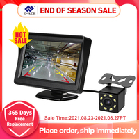 E-ACE 4,3 Zoll HD Digital Farbe Auto Monitor TFT LCD Display Reverse Kamera Parkplatz System Für Rückansicht kamera