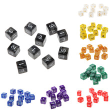10pcs dice trpg d & d rpg playing jogos multi-face d6 d10 d12 d20 diques