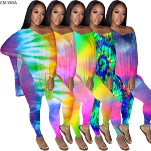 2020 Women Two Pieces Sets Tracksuits Full Sleeve V-Neck Tops+Pants Suit Sporty Fitness Print Outfits 2 Pcs Loose Street GL8080