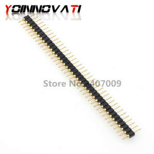 5pcs 40 Pin Connector Header Round Needle 1x40 Golden Pin Single Row Male 2.54mm Breakable Pin Connector Strip