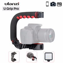 Ulanzi U Grip Pro Camera Stabilizer Video Rig Cage Triplle Cold Shoe Handheld Steadicam for iPhone 11 Pro GoPro 8 7 6 Canon Sony