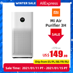Xiaomi Mijia Mi Air Purifier 3H Sterilizer Addition Formaldehyde Wash Cleaning Intelligent Household Hepa Filter Smart APP WIFI