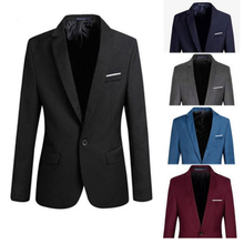 S-4XL, мужской формальный приталенный формальный костюм на одной пуговице, блейзер с длинным рукавом, хлопковый пиджак